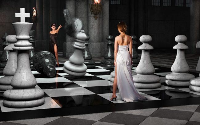 Белые и черные фигуры в шахматах