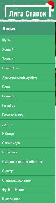 Линия БК Лига ставок
