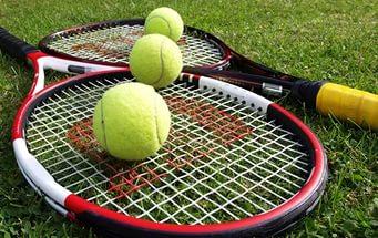 Мяч и ракетка для тенниса