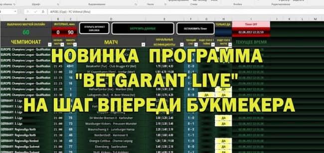 Betgarant live скачать бесплатно - программа для лайв ставок на футбол