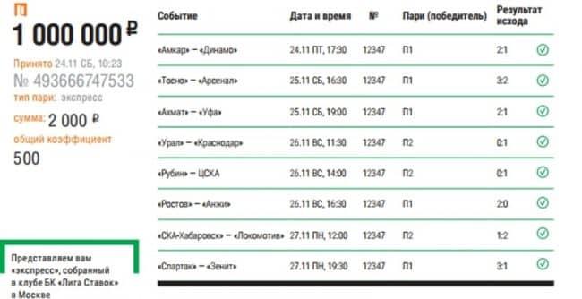 Суперэкспресс и 1 000 000 рублей