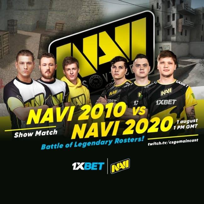 1xBet организовал шоу-матч составов NAVI - его посмотрели почти миллион зрителей